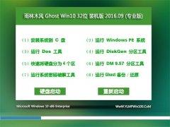 ����ľ�� Ghost Win10 32λ װ��� V2016.09(�⼤��)(32λ)