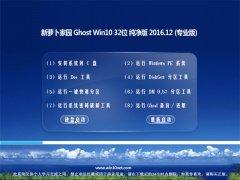 新萝卜家园Ghost Win10 X32 增强纯净版2016v12(永久激活)