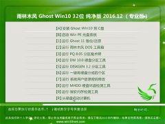 雨林木风Ghost Win10 X32 最新纯净版2016.12(无需激活)