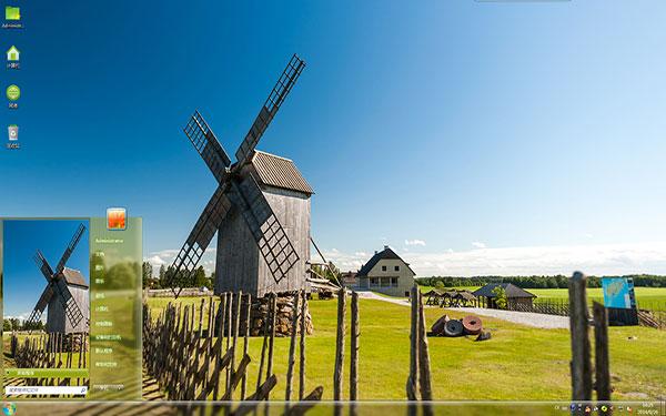 說起風車,第一個想起的就是荷蘭的風車王國,一排排,白色的風車,隨著微風輕輕的轉動著枝葉,形成一道靚麗的風景線。而主題桌面上的這個風車小鎮,雖然沒有荷蘭風車王國那么高大壯觀,木制的風車,經過風吹日曬,飽受滄桑,像是一頭古老的巨人保護著這個樸素而簡單的小村落。