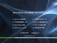 大地系统Ghost Win10 X32位 通用装机版v2017年02月(免激活)