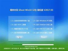 雨林木风Ghost Win10 x32 绿色装机版2017.03(激活版)(32位)
