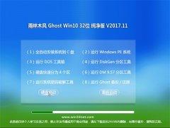 雨林木风Ghost Win10 x32位 内部纯净版V2017.11月(无需激活)